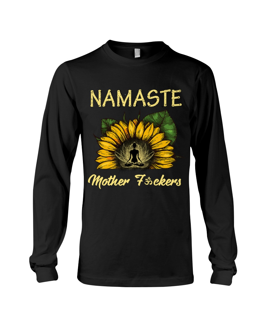 sunflower T-shirt - yoga Namaste Long Sleeve Tee