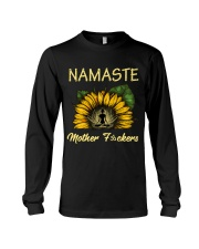 sunflower T-shirt - yoga Namaste Long Sleeve Tee thumbnail