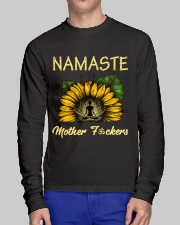 sunflower T-shirt - yoga Namaste Long Sleeve Tee lifestyle-unisex-longsleeve-front-1