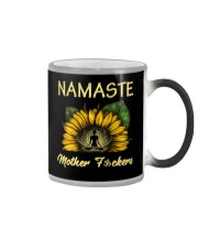 sunflower T-shirt - yoga Namaste Color Changing Mug thumbnail