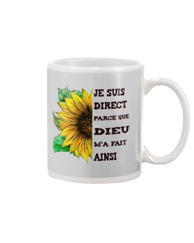 sunflower mug - I'm blunt