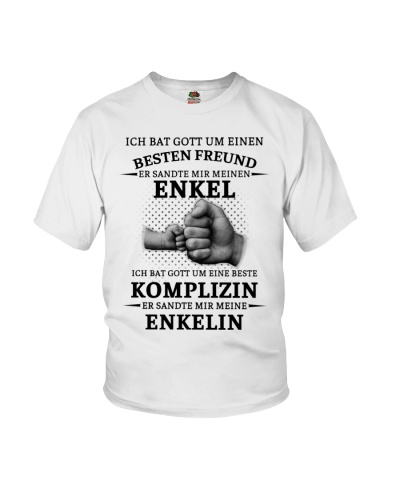 family T-shirt - I asked God German vs