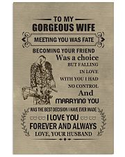 to my gorgeous wife 11x17 Poster front