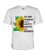 sunflower mug - I'm blunt V-Neck T-Shirt thumbnail