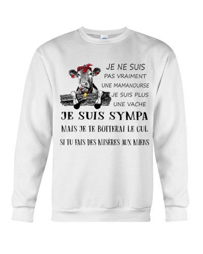 cow T-shirt - I'm more of a mama cow french vs