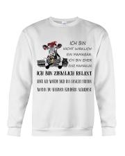 cow T-shirt - I'm more of a mama cow german vs Crewneck Sweatshirt thumbnail