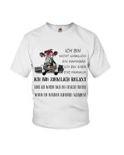 cow T-shirt - I'm more of a mama cow german vs Youth T-Shirt thumbnail