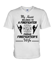 T-Shirt Firefighter V-Neck T-Shirt front
