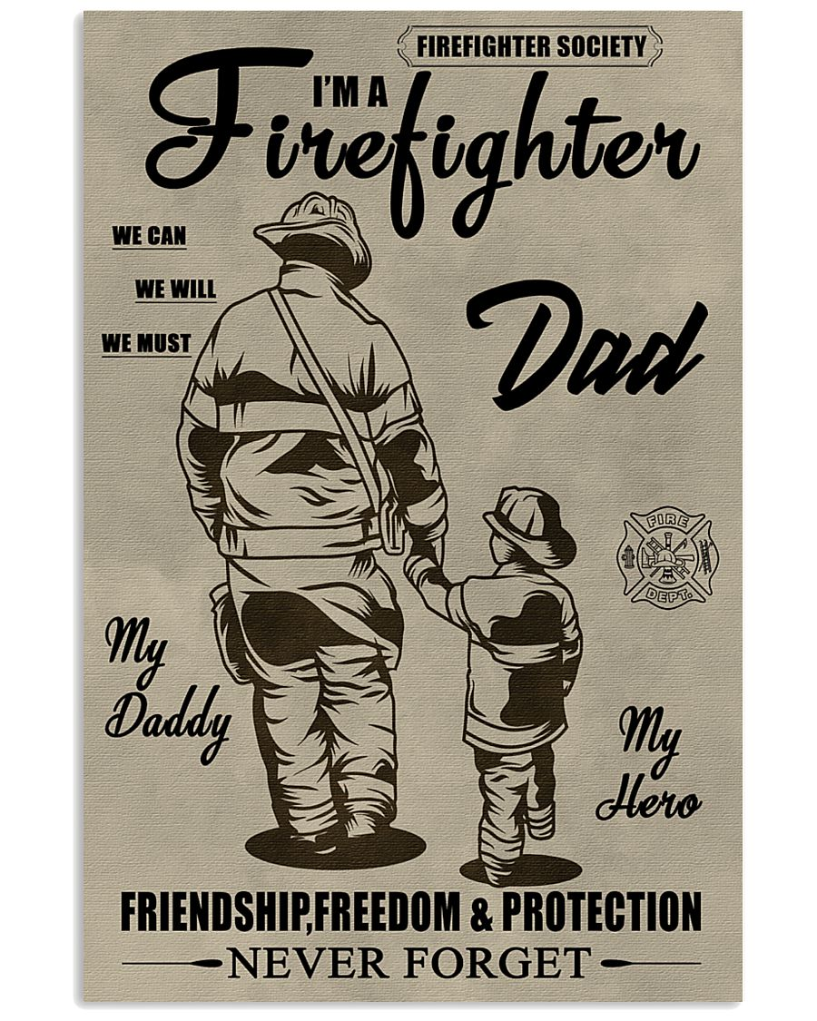 My daddy Firefighter 11x17 Poster