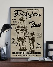 My daddy Firefighter 11x17 Poster lifestyle-poster-2