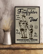 My daddy Firefighter 11x17 Poster lifestyle-poster-3