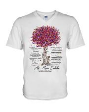 family mug - to granddaughter - never lose V-Neck T-Shirt thumbnail