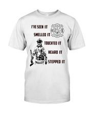 Firefighter Poster Classic T-Shirt thumbnail