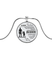 Make it the meaningful message to your son Metallic Circle Necklace thumbnail