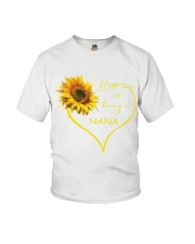 sunflower mug - being a Nana Youth T-Shirt thumbnail