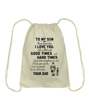 To my son good time Drawstring Bag thumbnail