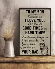 To my son good time 11x17 Poster lifestyle-poster-3