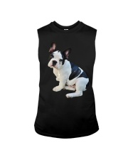 Frenchie French Bulldog Photo Novelty Gift Men Wom Sleeveless Tee thumbnail