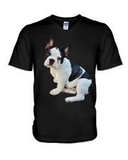Frenchie French Bulldog Photo Novelty Gift Men Wom V-Neck T-Shirt thumbnail