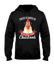 Womens Funny Crazy Chicken Lady Lover Farmer Humor Hooded Sweatshirt thumbnail