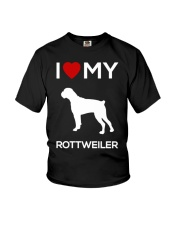 I Love My Rottweiler T- Shirt Youth T-Shirt tile