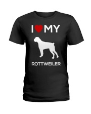 I Love My Rottweiler T- Shirt Ladies T-Shirt front