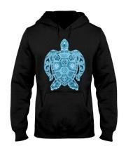 Royal Sea Turtle Hooded Sweatshirt thumbnail