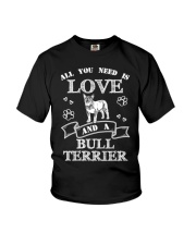All You Need Is Love And A Bull Terrier Youth T-Shirt thumbnail