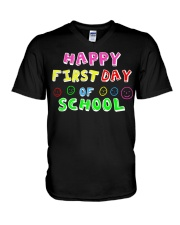 First Day Of School Teaching Back To school V-Neck T-Shirt thumbnail