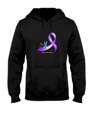 Hippie Dragonfly Purple Ribbon Lupus Awareness T S Hooded Sweatshirt thumbnail