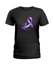 Hippie Dragonfly Purple Ribbon Lupus Awareness T S Ladies T-Shirt tile