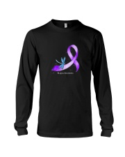 Hippie Dragonfly Purple Ribbon Lupus Awareness T S Long Sleeve Tee tile