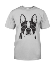 Painted Boston Terrier French Bulldog Puppy T Shir Classic T-Shirt front