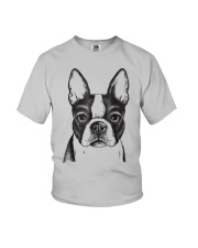 Painted Boston Terrier French Bulldog Puppy T Shir Youth T-Shirt thumbnail