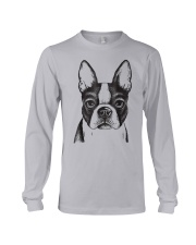 Painted Boston Terrier French Bulldog Puppy T Shir Long Sleeve Tee thumbnail