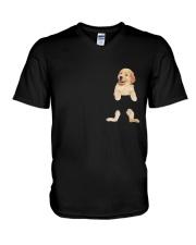 Golden Retriever In Your Pocket V-Neck T-Shirt thumbnail