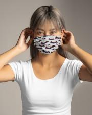 Halloween bats Cloth face mask aos-face-mask-lifestyle-16
