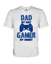 Gamer by night V-Neck T-Shirt thumbnail