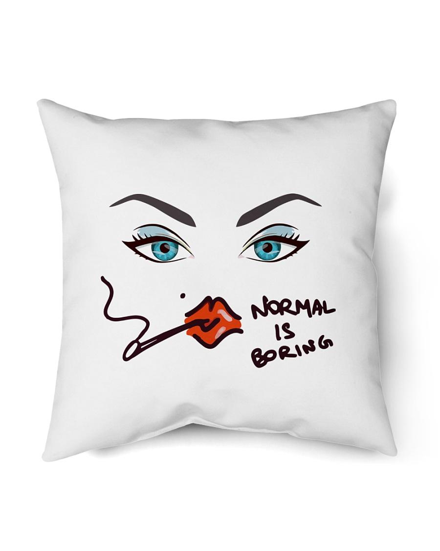 """Normal Is Boring Indoor Pillow - 18"""" x 18"""""""