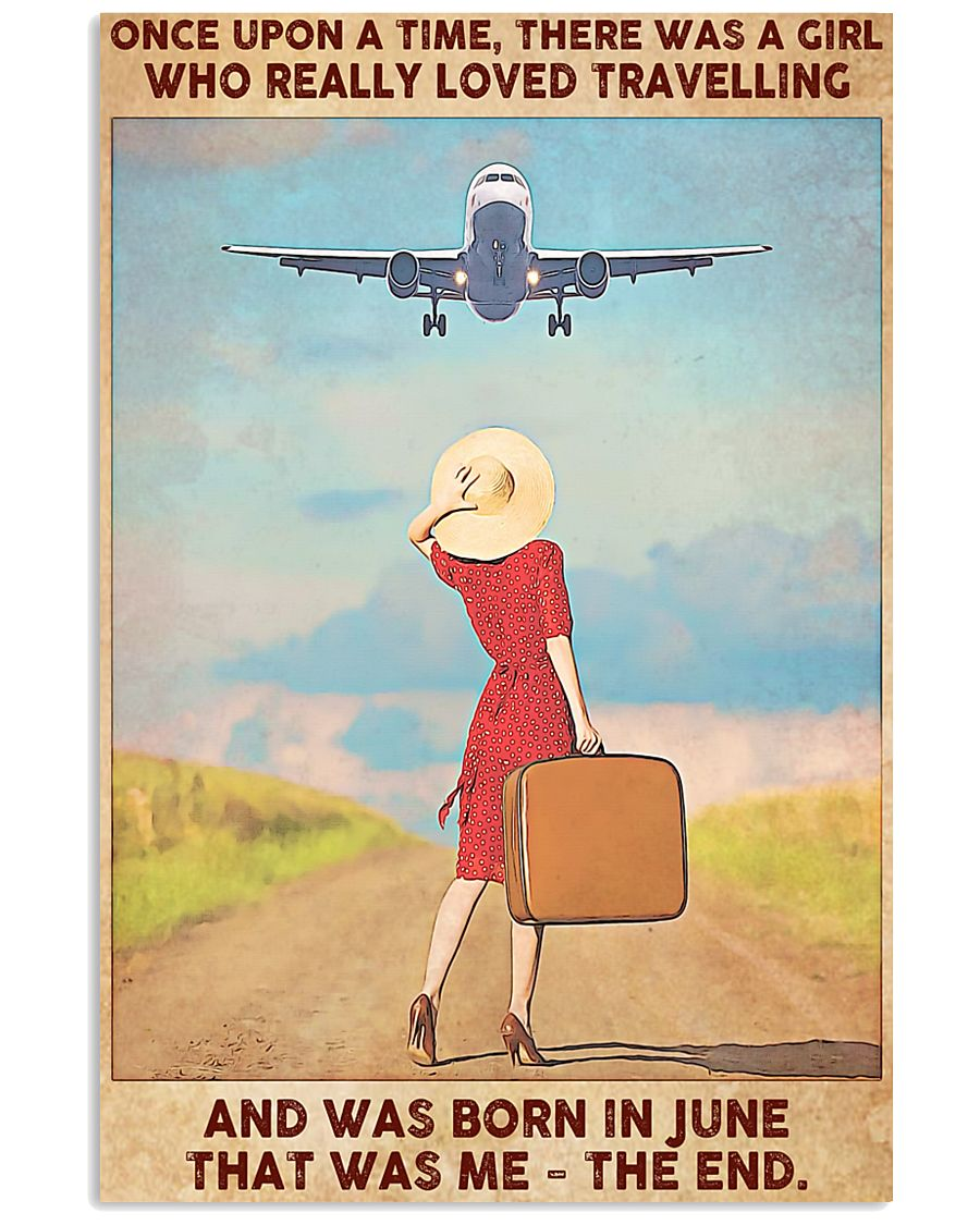 June Girl-Travelling 11x17 Poster