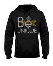 Be Unique-queen of dragonfly Hooded Sweatshirt thumbnail