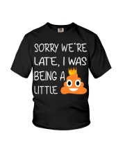 sorry we're late-thequeen Youth T-Shirt thumbnail