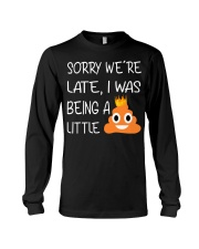 sorry we're late-thequeen Long Sleeve Tee thumbnail