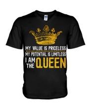 My value is priceless V-Neck T-Shirt thumbnail