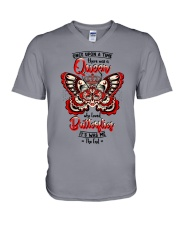 Once-upon-a-time-queen-butterfly V-Neck T-Shirt thumbnail