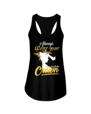 always wear your invisible crown Ladies Flowy Tank thumbnail