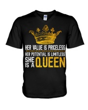 Her value is priceless V-Neck T-Shirt thumbnail