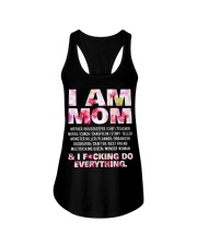 I am mom and i fcking do everything Ladies Flowy Tank tile