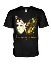 Butterfly-you-are-my-sunshine V-Neck T-Shirt thumbnail