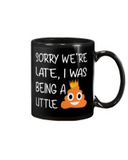 sorry we're late-thequeen Mug thumbnail